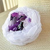 Украшения handmade. Livemaster - original item Brooch from fabric Purple flash. Handmade.