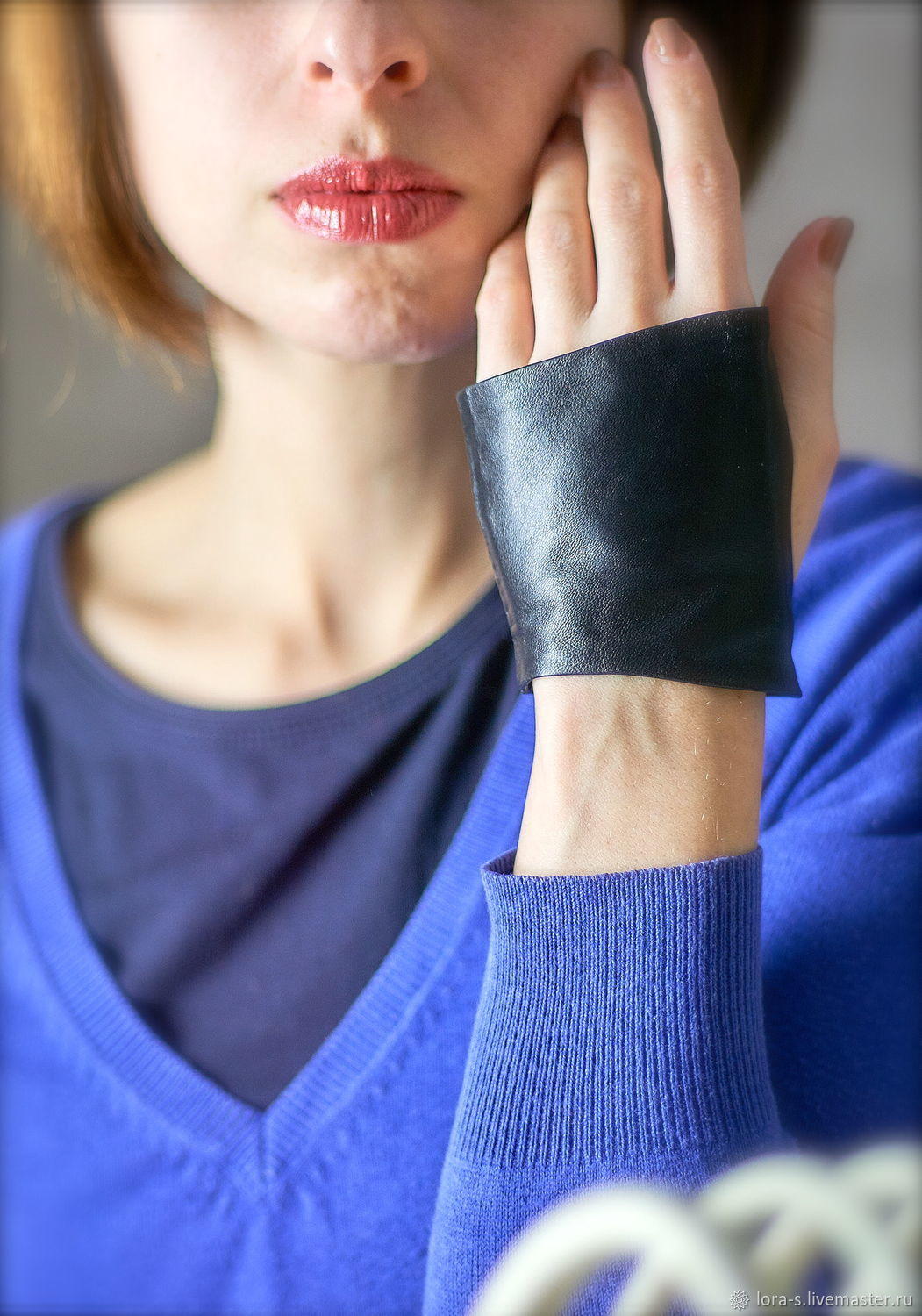 Autolady Black leather mitts Car gloves gift, Mitts, Dusseldorf,  Фото №1
