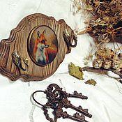 """Для дома и интерьера ручной работы. Ярмарка Мастеров - ручная работа Вешалка-ключница """"Охота на дичь"""". Handmade."""