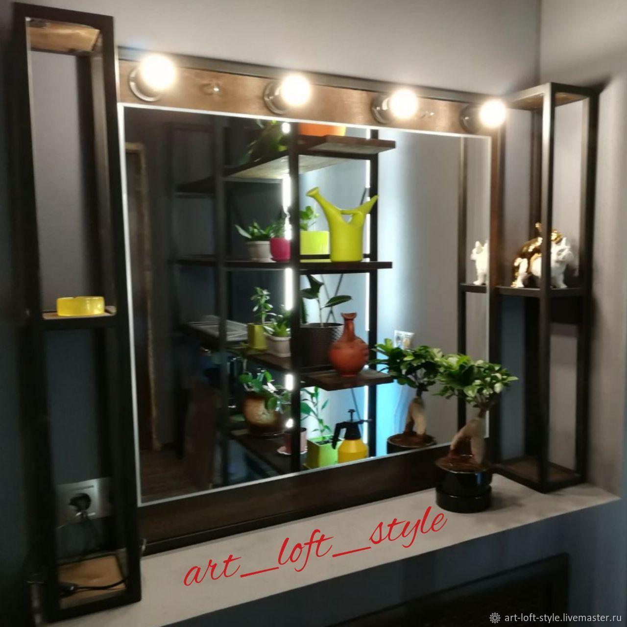 Оригинальное зеркало для стильного интерьера. Творческая мастерская ART_LOFT_STYLE создает мебель лофт, от проекта до установки.