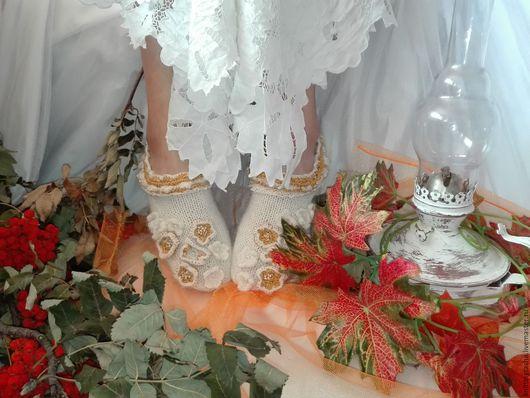 носочки вязаные купить вязаные носки подарок ручной работы вязаные цветочки бохо носочки
