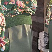 """Одежда ручной работы. Ярмарка Мастеров - ручная работа Чиносы """"КОМФОРТ"""" т.зеленые брючки. Handmade."""