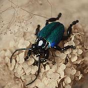 Украшения handmade. Livemaster - original item brooch beetle Buprestis. Handmade.