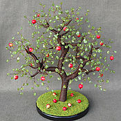 Цветы и флористика handmade. Livemaster - original item Wood Apple coral and peridot. Handmade.