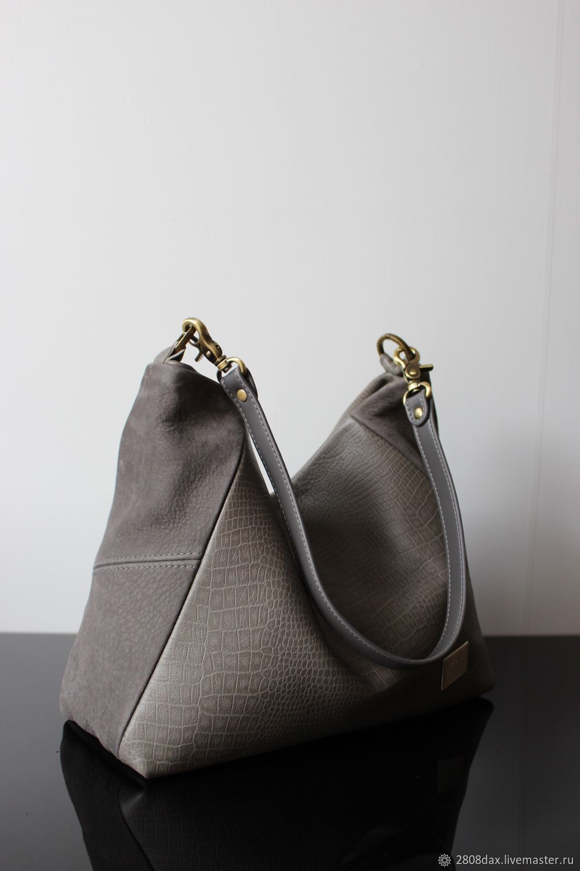Handbags Handmade Order Grey Suede Leather Bag Hobo