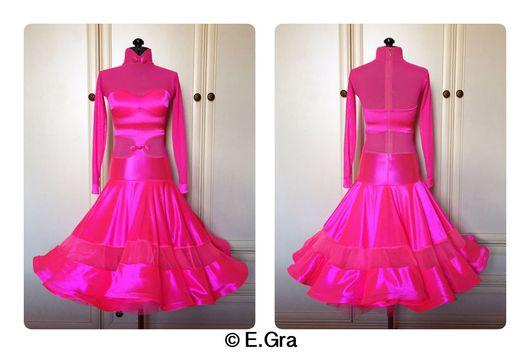 Танцевальные костюмы ручной работы. Ярмарка Мастеров - ручная работа. Купить Ярко-розовое рейтинговое платье. Handmade. Рейтинговое платье
