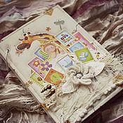Фотоальбомы ручной работы. Ярмарка Мастеров - ручная работа Детский альбом. Handmade.
