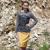 Одежда handmade. Livemaster - original item knit-felted pullover in