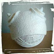 Работы для детей, ручной работы. Ярмарка Мастеров - ручная работа Шапочка для фотосессии новорожденного. Handmade.