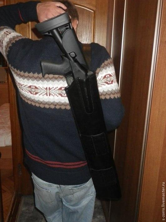 Футляры, очечники ручной работы. Ярмарка Мастеров - ручная работа. Купить Чехол для ружья(тактический)с подсумками.. Handmade. Черный, подсумок