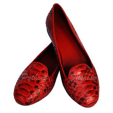 Обувь ручной работы. Ярмарка Мастеров - ручная работа Лоферы из питона SMART. Handmade.
