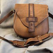 Сумка через плечо ручной работы. Ярмарка Мастеров - ручная работа Сумка через плечо: кожаная сумка. Handmade.