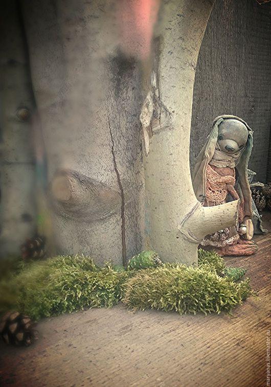 """Игрушки животные, ручной работы. Ярмарка Мастеров - ручная работа. Купить """"Манюша и мятный лес"""" зайка из мини коллекции """"Травяной сбор"""". Handmade."""