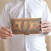 Сумки и аксессуары ручной работы. Ярмарка Мастеров - ручная работа Клатч с долларом на клепке. Handmade.
