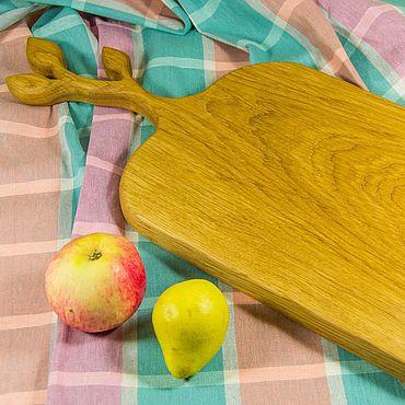 Посуда ручной работы. Ярмарка Мастеров - ручная работа Большая дубовая разделочная доска. Handmade.