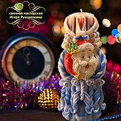 """Подарки к праздникам ручной работы. Ярмарка Мастеров - ручная работа Резная свеча """"Новогодняя"""" высотой 22 см.. Handmade."""