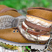"""Обувь ручной работы. Ярмарка Мастеров - ручная работа Ботинки из войлока """"Индиана"""". Handmade."""