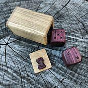 Сувениры и подарки handmade. Livemaster - original item Box with cubes of amaranth. Handmade.