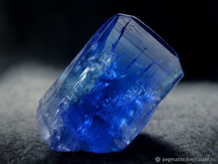 Танзанит, кристаллы из Танзании. Всего 4 штуки, Минералы, Москва,  Фото №1
