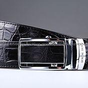 Аксессуары handmade. Livemaster - original item Crocodile leather belt IMA3007B. Handmade.