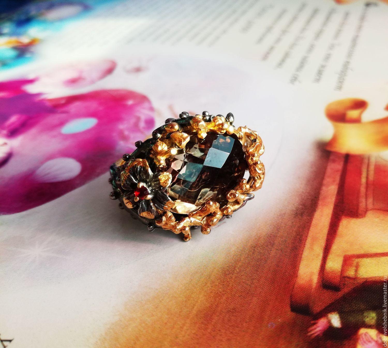 Nectar ring with rauchtopaz, Rings, Novaya Usman,  Фото №1