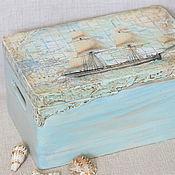 Для дома и интерьера ручной работы. Ярмарка Мастеров - ручная работа Большой короб в морском стиле.. Handmade.