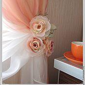 Украшения ручной работы. Ярмарка Мастеров - ручная работа брошь роза кремовая из ткани. Handmade.
