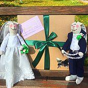Подарки ручной работы. Ярмарка Мастеров - ручная работа Подарок на свадьбу, Свадебные Зайцы, подарок на годовщину. Handmade.