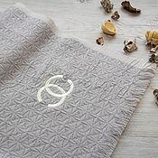 Аксессуары handmade. Livemaster - original item Grey Italian scarf made of Chanel fabric. Handmade.