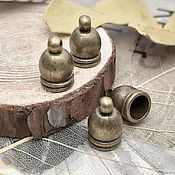 Материалы для творчества handmade. Livemaster - original item End cap 12x7x7 mm color bronze (2854-B). Handmade.
