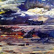 Картины и панно handmade. Livemaster - original item Clouds over the sea. The element of water.. Handmade.