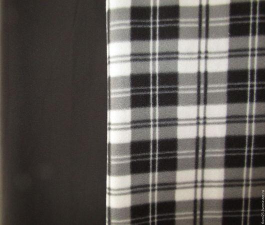 Шитье ручной работы. Ярмарка Мастеров - ручная работа. Купить Плащевка изнанка флис в клетку арт.51 ПЛФ (Китай) черный. Handmade.