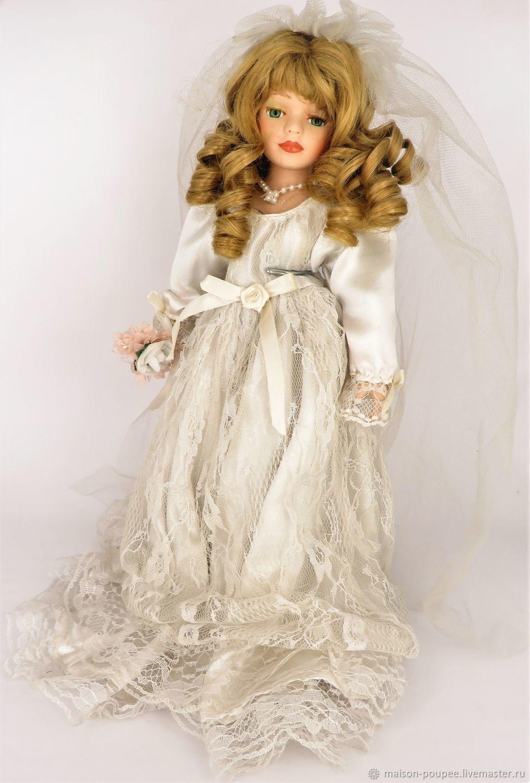 Винтаж: Винтажная французская кукла Застенчивая невеста, Куклы винтажные, Москва,  Фото №1