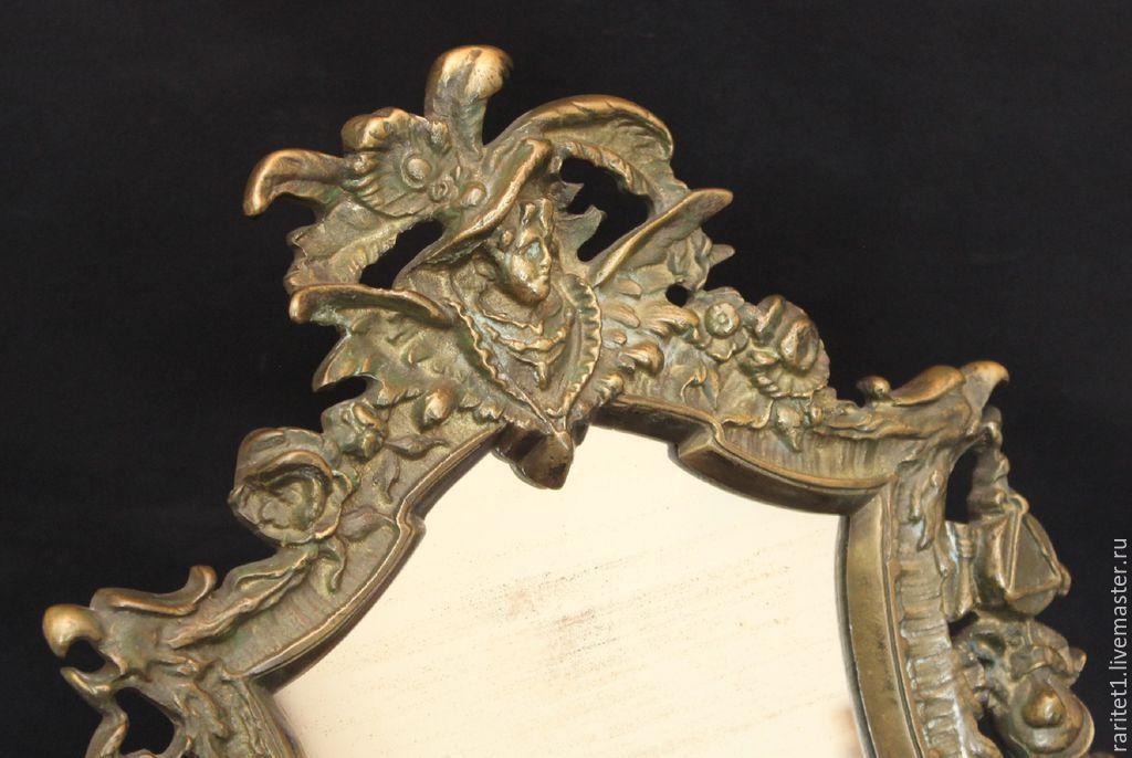 Винтажные предметы интерьера. Ярмарка Мастеров - ручная работа. Купить Винтаж: Рамка рама зеркало орел бронза Франция 19 век 14. Handmade.