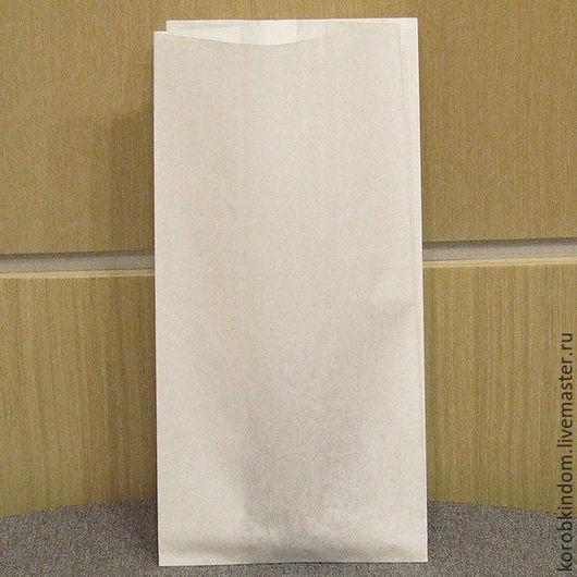 Упаковка ручной работы. Ярмарка Мастеров - ручная работа. Купить Пакет 14.5х28.5х9 ламинированный для жирных продуктов белый. Handmade.