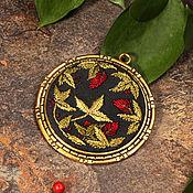 Украшения handmade. Livemaster - original item Embroidered pendant Rufus Aureum. Handmade.