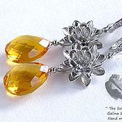 Украшения handmade. Livemaster - original item Earrings Lotus. Handmade.