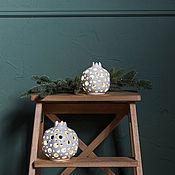 Для дома и интерьера handmade. Livemaster - original item Ceramic garnet candle holder large. Handmade.