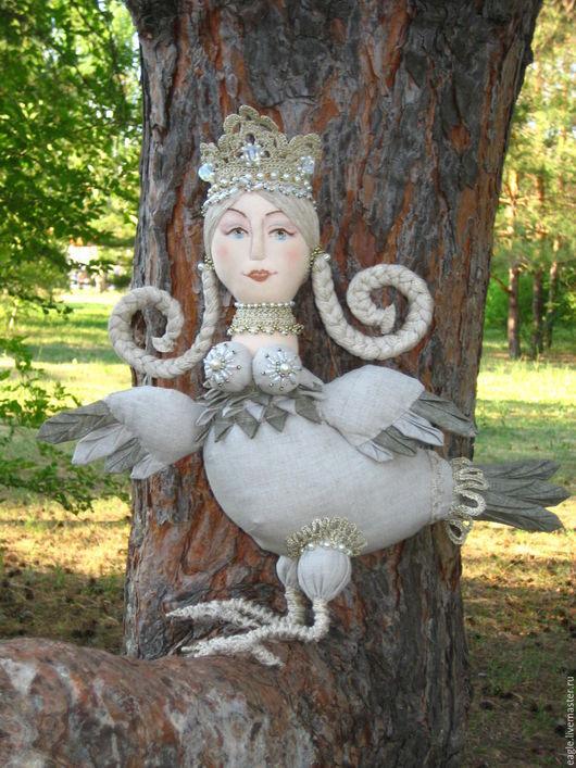Сказочные персонажи ручной работы. Ярмарка Мастеров - ручная работа. Купить Птица Сирин. Handmade. Птица, птица счастья, корона