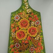 Русский стиль ручной работы. Ярмарка Мастеров - ручная работа Доска разделочная деревянная Цветы. Handmade.