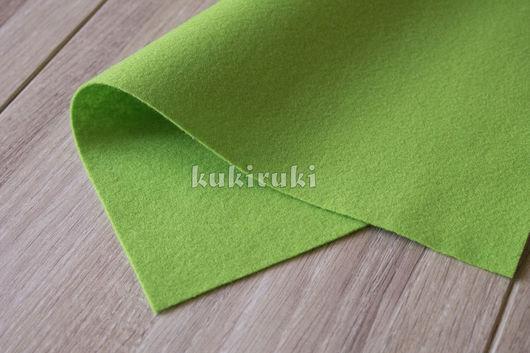 Валяние ручной работы. Ярмарка Мастеров - ручная работа. Купить Ярко-зеленый мягкий корейский фетр. Handmade. Фетр