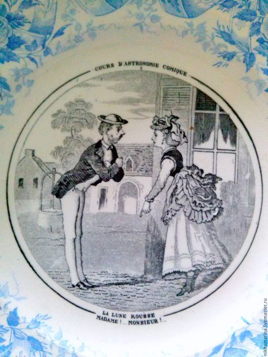 Винтажная посуда. Ярмарка Мастеров - ручная работа. Купить коллекционная антикварная тарелка SARREGUEMINES. Handmade. Антиквариат, коллекция, винтажная тарелка