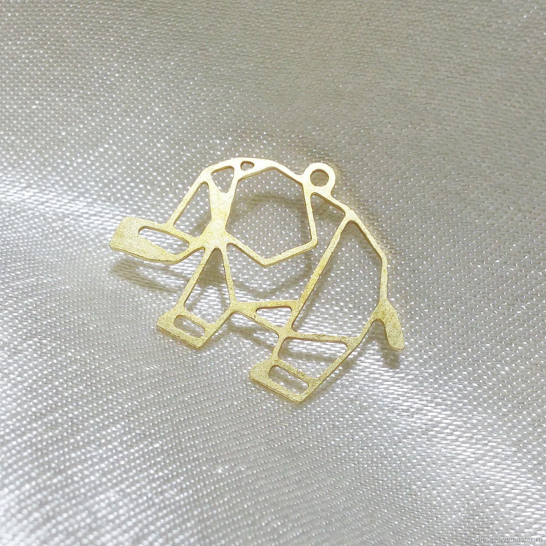 ручной работы. Ярмарка Мастеров - ручная работа. Купить СЛОНИК подвеска латунь. Handmade. Латунь, для броши, латунь с покрытием, металл