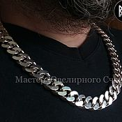 "Украшения handmade. Livemaster - original item Curb chain ""SHELL"" silver 925. Handmade."