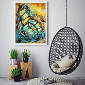 Картины ручной работы. Ярмарка Мастеров - ручная работа Картина Бабочки. Handmade.