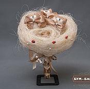"""Цветы и флористика ручной работы. Ярмарка Мастеров - ручная работа Букет котят """"Три орешка для золушки"""". Handmade."""