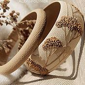 Украшения handmade. Livemaster - original item Set of beige bracelets with branches of polymer clay. Handmade.