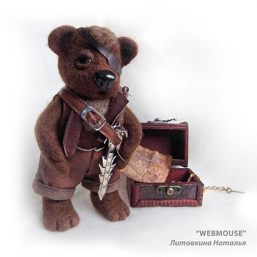 Игрушки животные, ручной работы. Ярмарка Мастеров - ручная работа. Купить Медведь пират!. Handmade. Медведь, миша, игрушка, валяшка