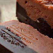 Косметика ручной работы. Ярмарка Мастеров - ручная работа Chocolate and grapefruit, натуральное мыло.. Handmade.