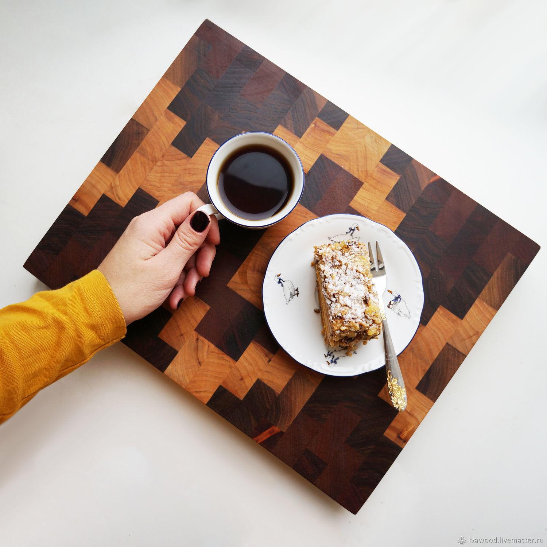 Kitchen handmade. Livemaster - handmade. Buy End cutting Board made of Maple, Sapelli, Walnut.Handmade, natural wood